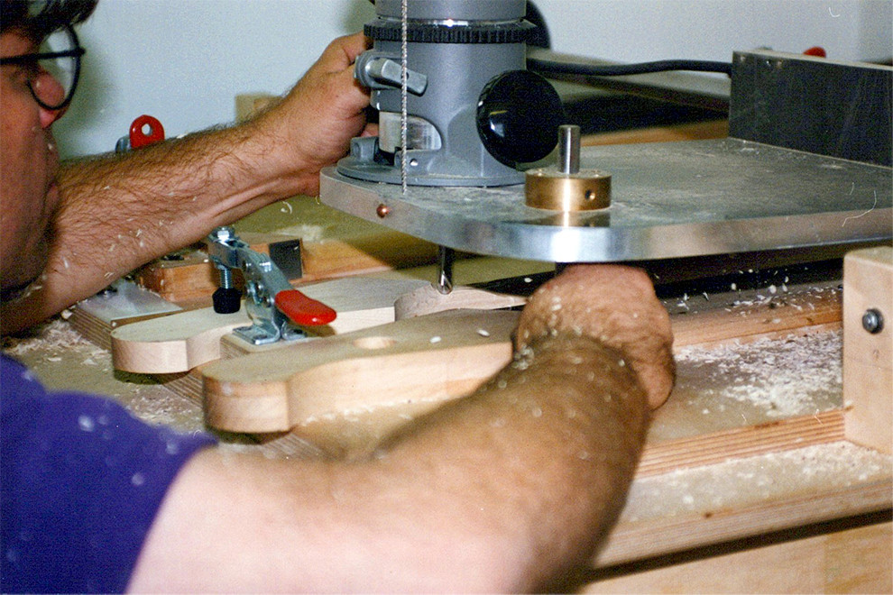 Copy router shaping as neck. Early pre 1997 when done in house