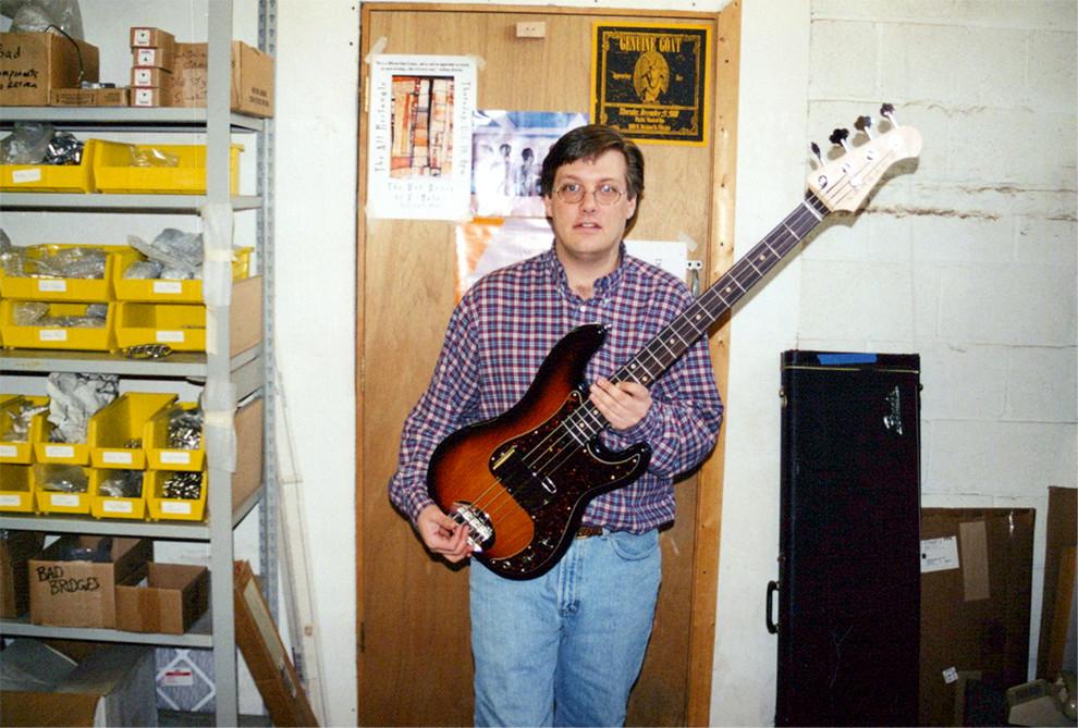 Dan with artist basses