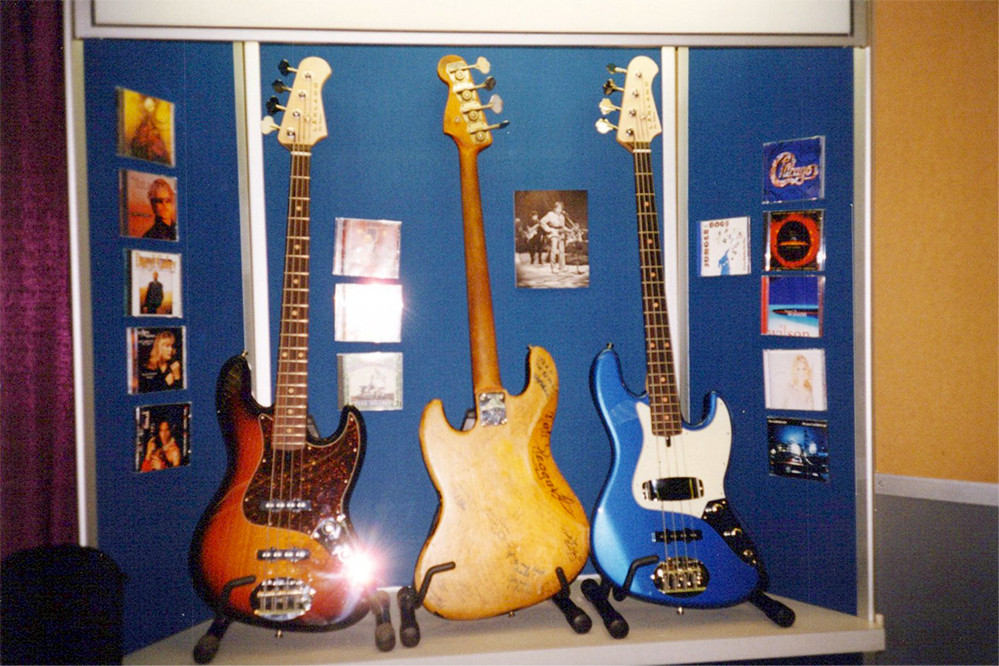 Joes's jazz bass and a couple of Lakland Joe Osborns